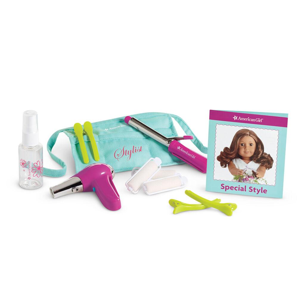American Girl Doll SALON STYLIST SET Perfect Gift  Hair Dryer Curling Iron