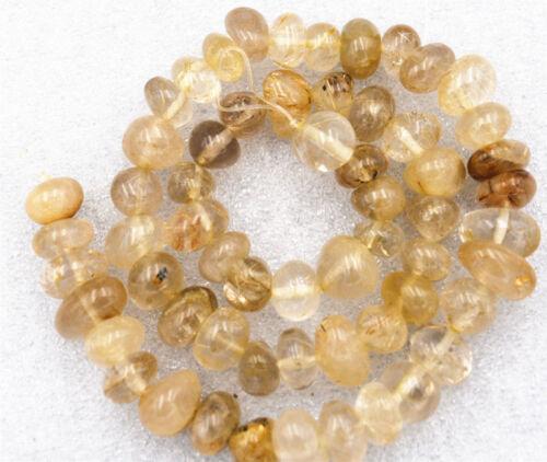 "Nouveau 8x10mm Irregular brésil naturelle Rutilated Loose Beads /""AAA"
