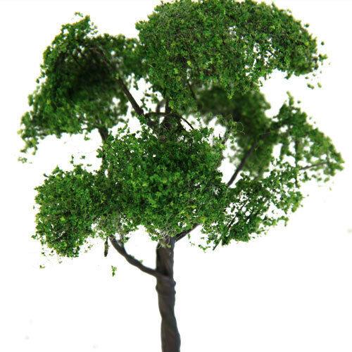 2x Miniature Elm Model Tree Greenery Scenery Building Accs Toy 1//75 HO Scale