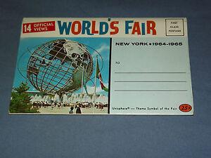 VINTAGE-1964-65-NEW-YORK-WORLD-039-S-FAIR-14-VIEWS-PICTURES-POSTCARD