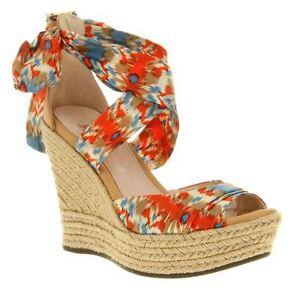 e0bb467a1fe Details about UGG Luciana Multi-Color Open Santorini Espadrilles Wedge  Sandals 8.5, 9.5, 10