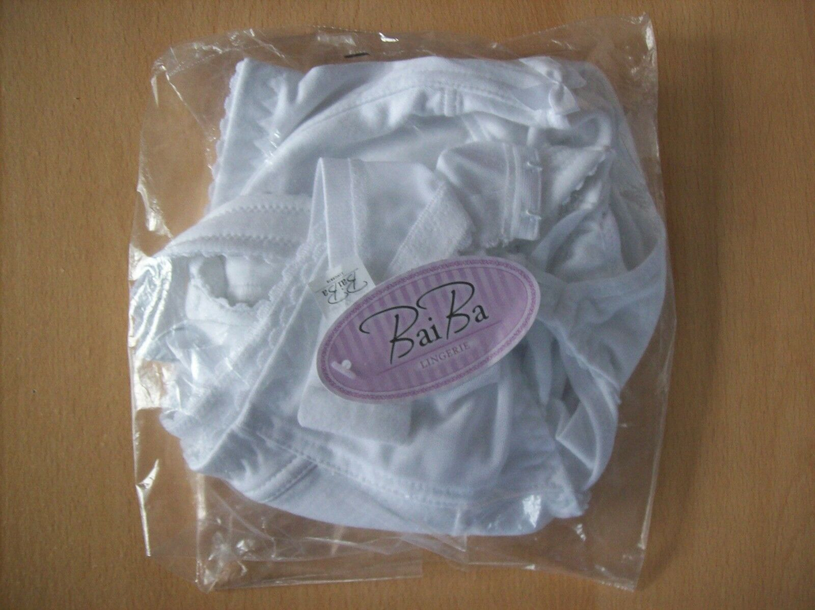 Bra Baiba 608-9 Classic Non Wired Maternity & Nursing Bra White 36 H New + Tags