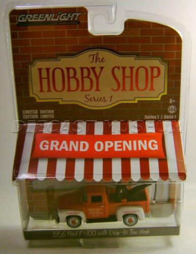 1956 /'56 FORD F100 TOW HOOK WRECKER TOW TRUCK THE HOBBY SHOP GREENLIGHT 2017