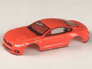 Autoworld-Red-Ford-Mustang-GT-Xtraction-HO-Slot-Car-Body-Fits-Aurora-Mag-Chassis