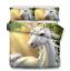 3D-hermoso-castillo-unicornio-Cubierta-Del-Edredon-Edredon-Cubierta-Juego-de-cama-funda-de-almohada miniatura 24