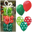 "12/"" Red /& Green Polka Dot Plain Pearl Christmas Theme Latex Balloons X-mas baloo"