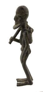 Antica Statuetta Dogon Statuetta Africana Bronzo Cacciatore Mali Af 16571 Ab