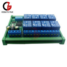 Dc 12v 8 Channel Rs485 C45 Rail Relay Programmable Control Module Board Withcase