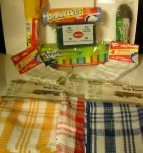 Bumper Pack 59 Mix Cleaning Cloths Set;-Dish Cloths,Tea Towels,Dusters,Scourers+
