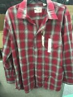 Article 365 Long Sleeve Button-down Shirt Desire Red Plaid Large $50