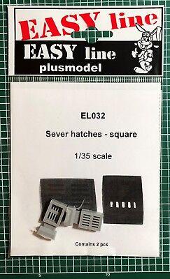 Plusmodel Plus Model El032 - Sever Hatches Square - 1/35 Resin Kit Valore Eccezionale