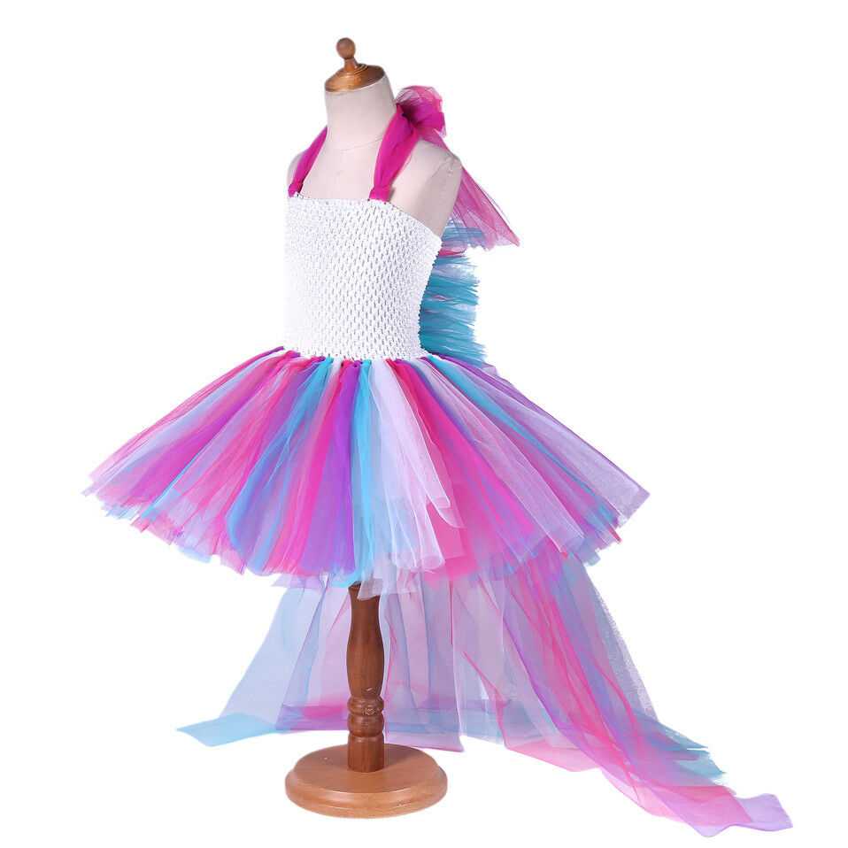 Unicorn Kids Baby Girl Tops T shirt Tutu Skirt Party Dress Outfit Halloween CA