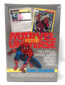 1991 MARVEL UNIVERSE SERIES 2 FACTORY SEALED TRADING CARD BOX 36 PACKS 🔥NEW🔥