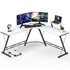 L Shaped Computer Desk Corner Desk Writing Pc Workstation With Monitor Cpu Stand