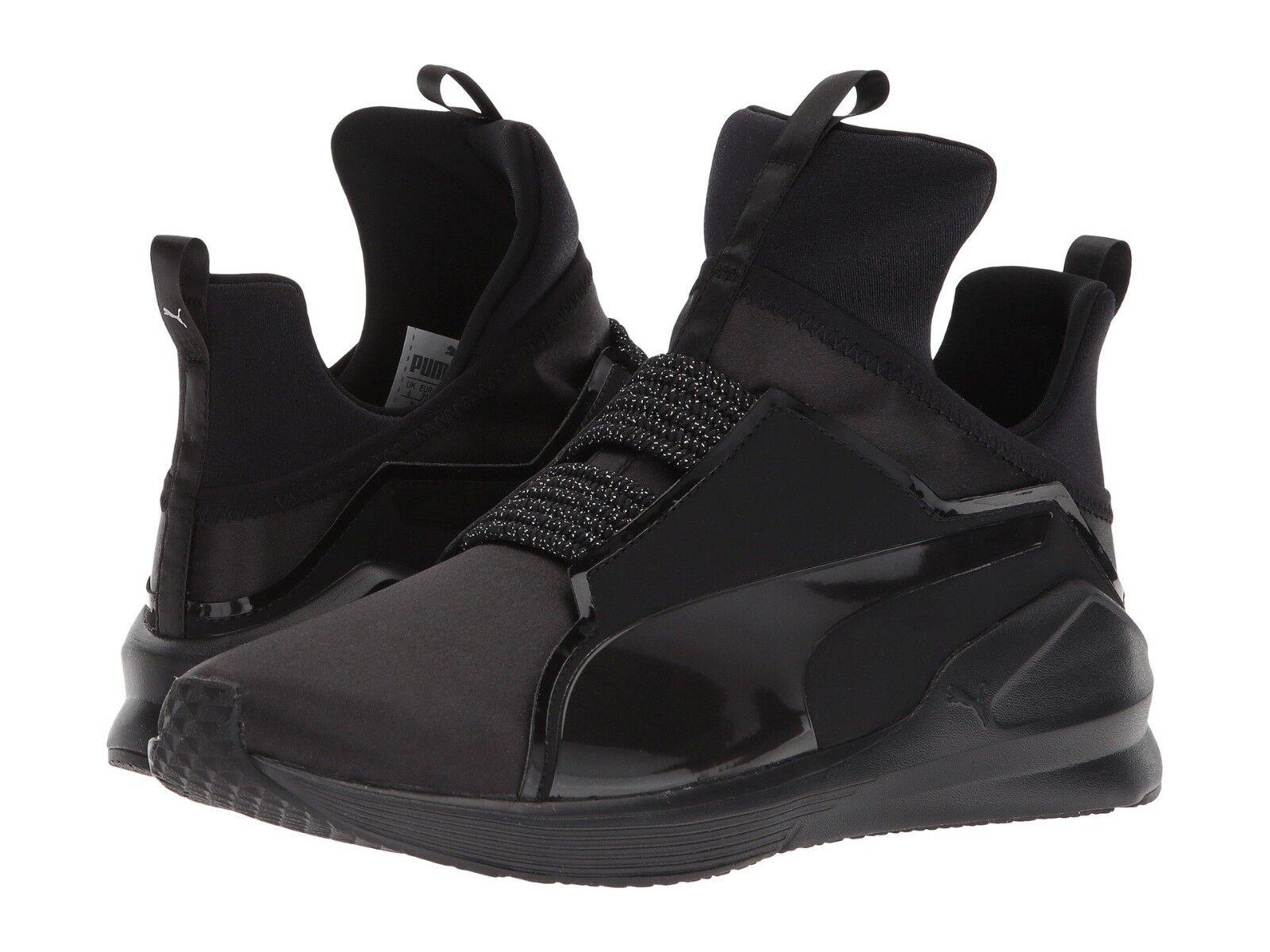 Le donne scarpe puma feroce raso pe hightop pizzo nero argento   19054501 scarpe nuove