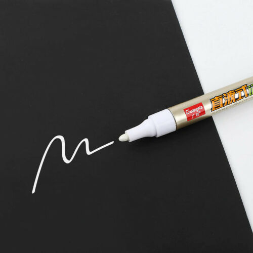 White Color Magic Permanent Marker pen Mark Oily Optical Disc Glass Ceramic