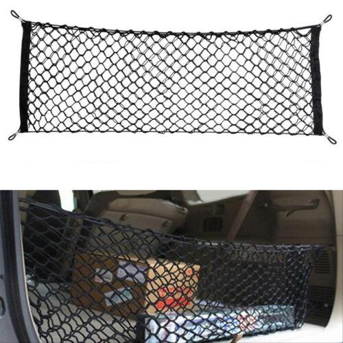 1pc Car Trunk Rear Cargo Organizer Storage Net Elastic Nylon Hammock Holder Mesh