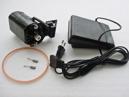 Motor 220V mit Fußpedal und Zubehör,160W  schwarz Richtung links