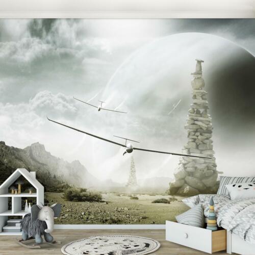 Fototapete Tapete Poster 236208FW Segelflugzeug Kinderzimmer Junge Für Kinder