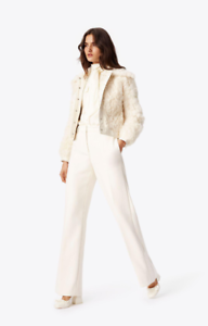 New-1298-TORY-BURCH-Camilla-Shearling-Lamb-White-Fur-Leather-Jacket-Size-L