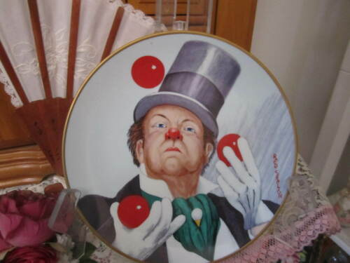 """Red Skelton"" W.C. Fields 1977 Collector Plate Fairmont Fine China Armstrstrongs"
