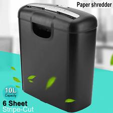 Commercial Office Shredder Paper Strip Cut Destroy Heavy Duty Credit Card Home