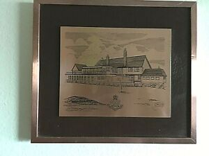 Vintage-Copperware-Picture-Metal-Royal-Dublin-Golf-Club-Made-in-Ireland-14X12-5-034