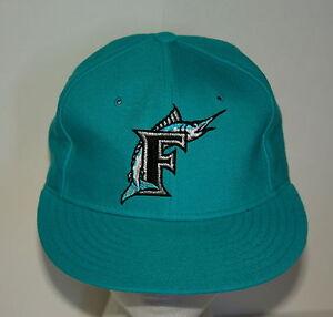 vintage florida miami marlin blue baseball team cap hat