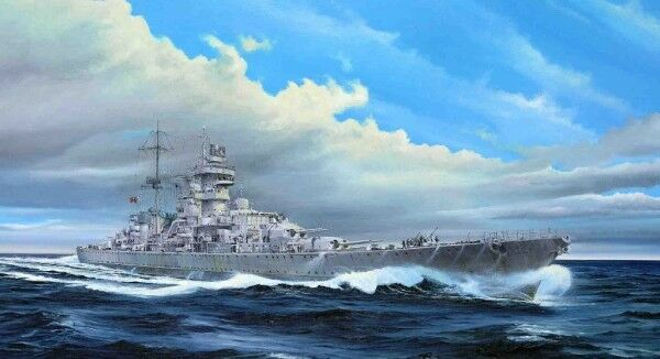 German Cruiser Prinz Eugen 1945 Battleship 1 350 Plastic Model Kit TRUMPETER