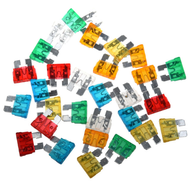 Hot Sale! 30Pcs Standard Auto Blade Fuse for Car 5 10 15 20 25 30 AMP Mixed S9G6