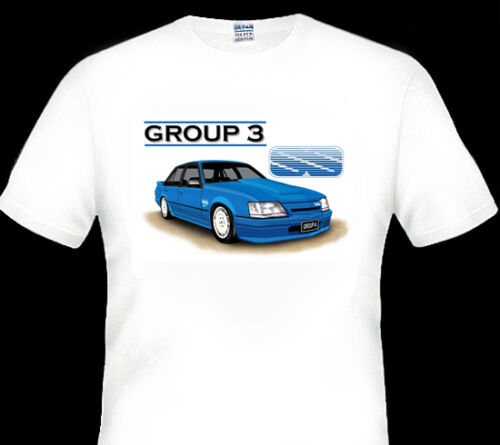 4 CAR COLOURS BROCK VK  GROUP A  /'SS/'  GROUP 3  QUALITY  WHITE  TSHIRT BIG FIT