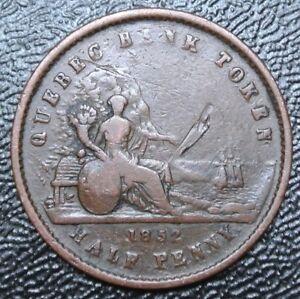 1852-PROVINCE-DU-CANADA-QUEBEC-BANK-TOKEN-Un-Sou-BR529-PC-3