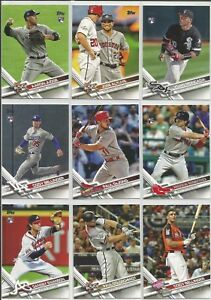 2017-Topps-Update-Baseball-151-300-Singles-U-Pick-Card-Build-Lot-STARS-ROOKIE-RC