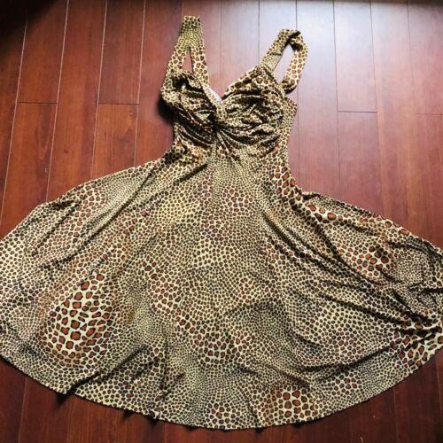 Norma Kamali leopard print sleeveless dress
