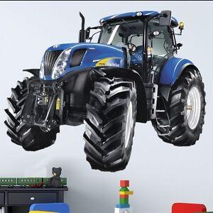 Wallprint Wandtattoo Traktor New Holland T7000 115x141cm Kinder Ebay