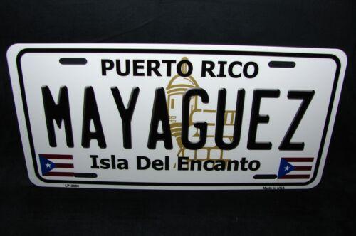 PUERTO RICO MAYAGUEZ ISLA DEL ENCANTO METAL NOVELTY LICENSE PLATE FOR CARS