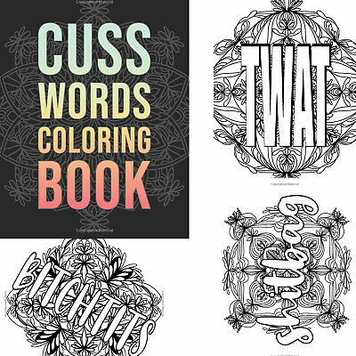 adult coloring book swear cuss word relax stress relief single sided design 9798617827080  ebay