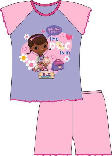 Chicas Doc Mcstuffins Doc está en la manga corta Oficial Pijamas 100/% algodón