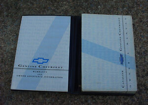 gm 96 chevrolet cavalier original factory owners manual with case rh ebay com au Instruction Manual MTD Products Manuals