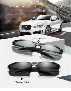 AU Change Color Photochromic Sunglasses Men Women Titanium polarized Sun Glasses