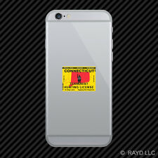 Connecticut Terrorist Hunting Permit Cell Phone Sticker Mobile License CT
