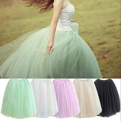 Fashion Women Girls Ladies Sweet Tutu Dance Fairy Soft Tulle Dress Skirt