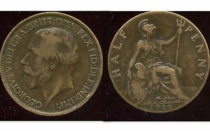 ROYAUME-UNI-GREAT-BRITAIN-half-penny-1916-etat