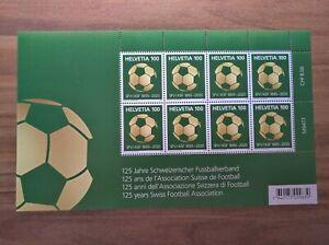 Kleinbogen, 125 Jahre / years Schweizerischer Fussballverband, Swiss Football **