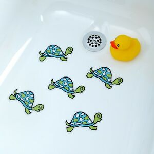 turtle bathtub stickers for kids babies shower decals treads non slip applique ebay. Black Bedroom Furniture Sets. Home Design Ideas