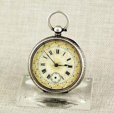 Silber Taschenuhr Herren Uhr pocket watch alte Uhren taschenuhren Schlüssel RAR