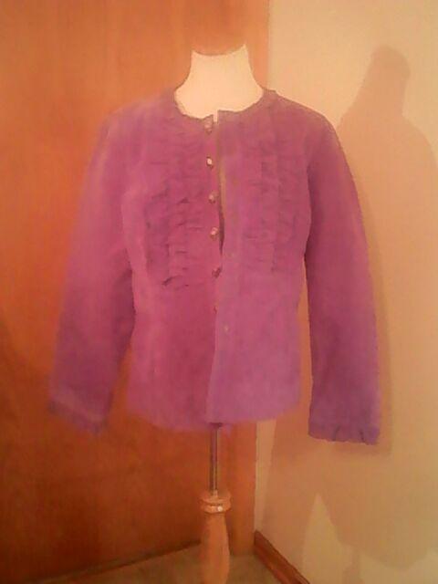 Live a Little brand women s purple leather tuxedo jacket 5a86190a7f