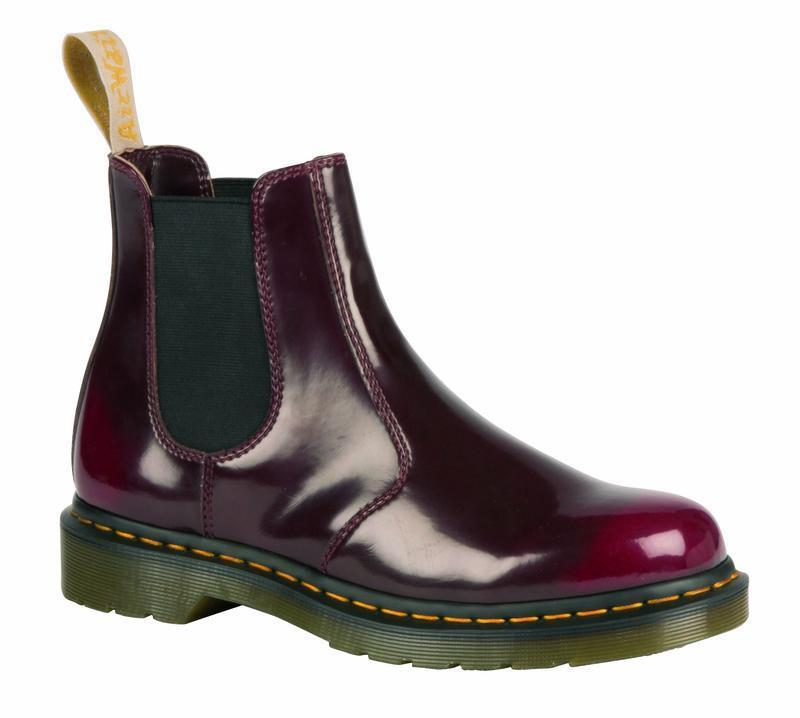 Descuento de on la marca Dr Martens slip on de botas 2976 Cherry Red Vegan 21802600 original Doc 851b1e
