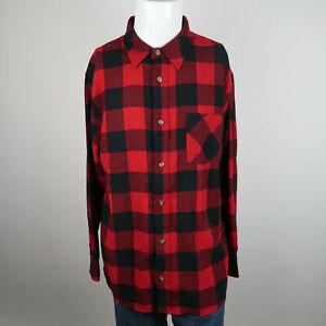 Field-Stream-Button-Up-Shirt-Mens-XL-Red-Blue-Long-Sleeve-Buffalo-Plaid-Casuals