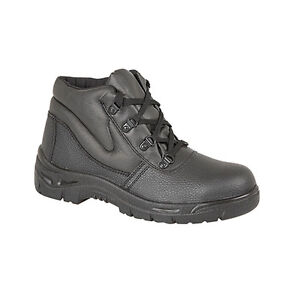 Grafters Safety Womens Black Steel Toe Cap Work Boots Shoes UK3-9 ...